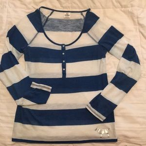 """Victoria's Secret """"Pink"""" blue and white top"""